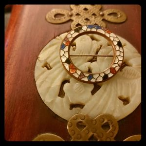 """Antique Mosaic """"Stained Glass Effect"""" Pin"""